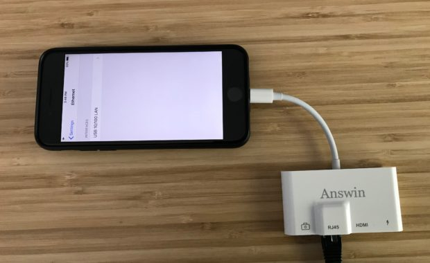 Iphone wired via ethernet