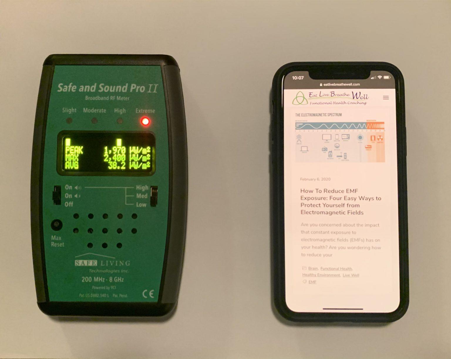 Measure EMFs - RF Meters
