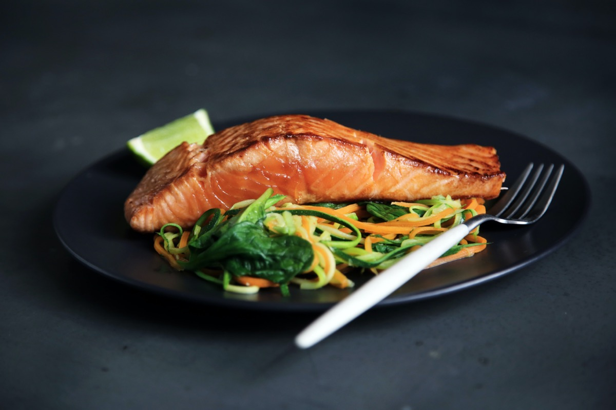 Nutrition and Gut Health: Salmon and Veggies on plate